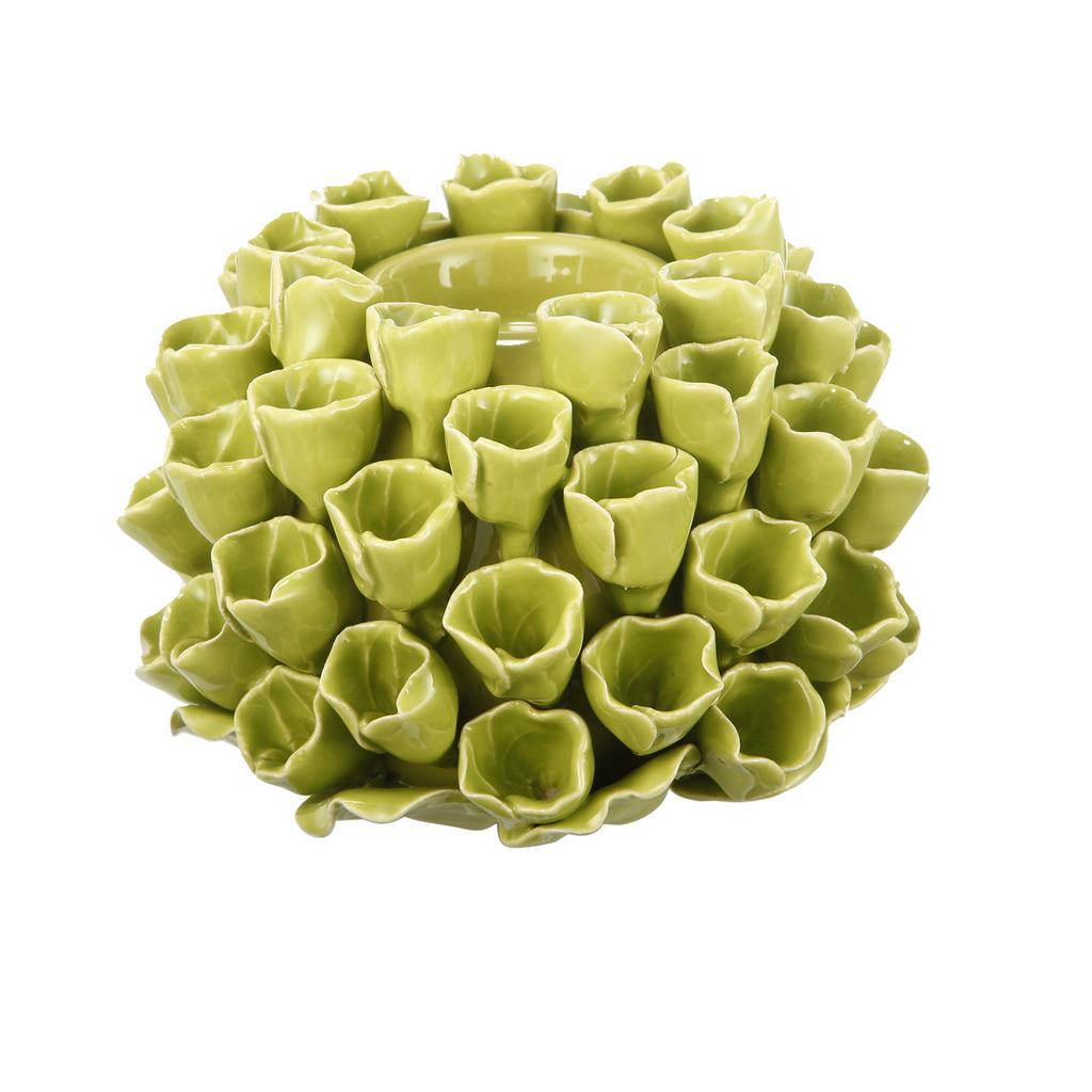 {} ARTEVALUCE Подсвечник Коралл Цвет: Зеленый (10х15х15 см) onika коралл 30 10