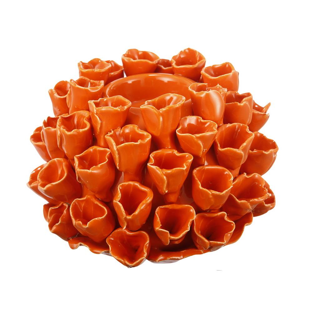{} ARTEVALUCE Подсвечник Коралл Цвет: Оранжевый (10х15х15 см) onika коралл 30 10