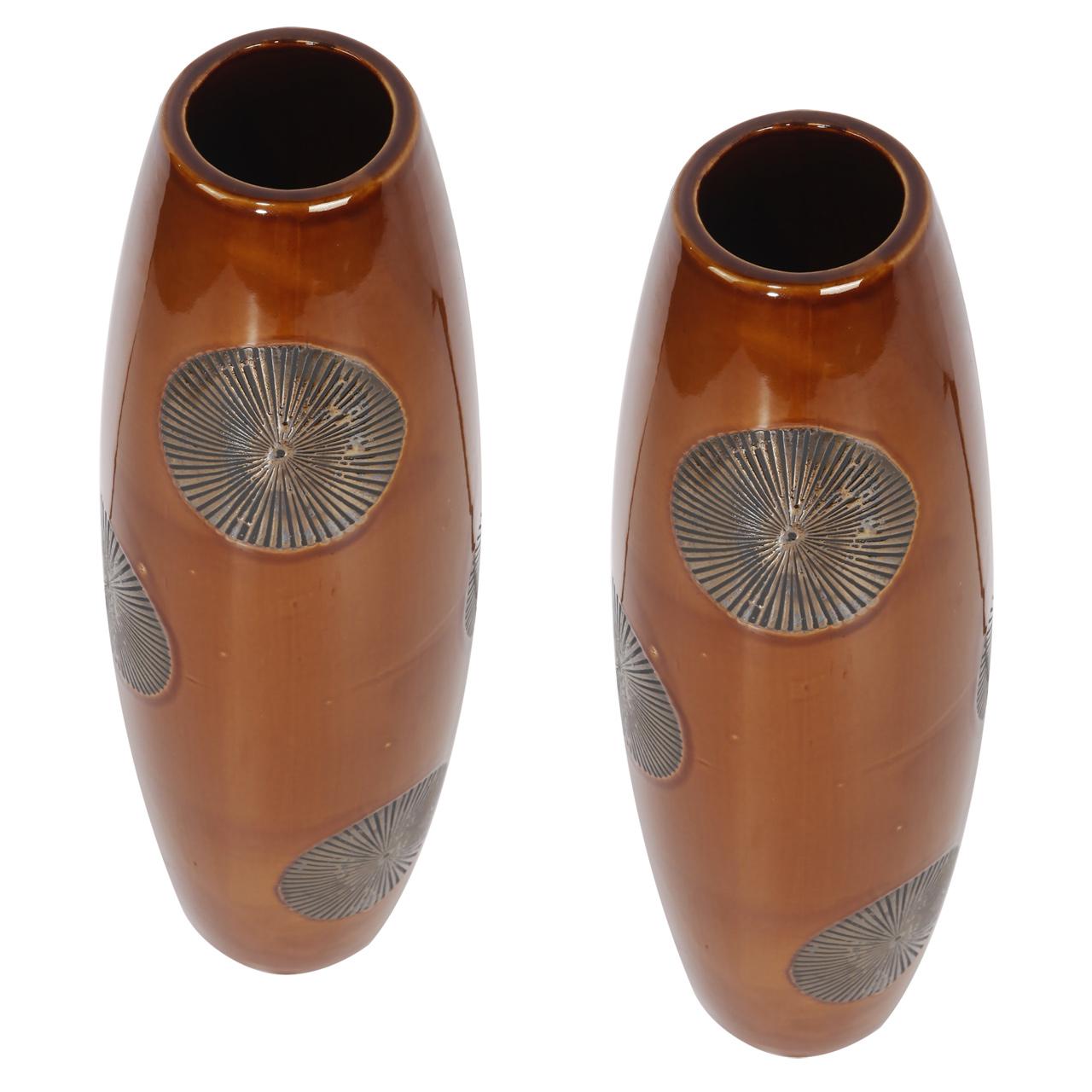 {} ARTEVALUCE Ваза Ria Цвет: Оранжевый (13х13х41 см - 2 шт) artevaluce ваза ria цвет оранжевый 13х13х41 см 2 шт