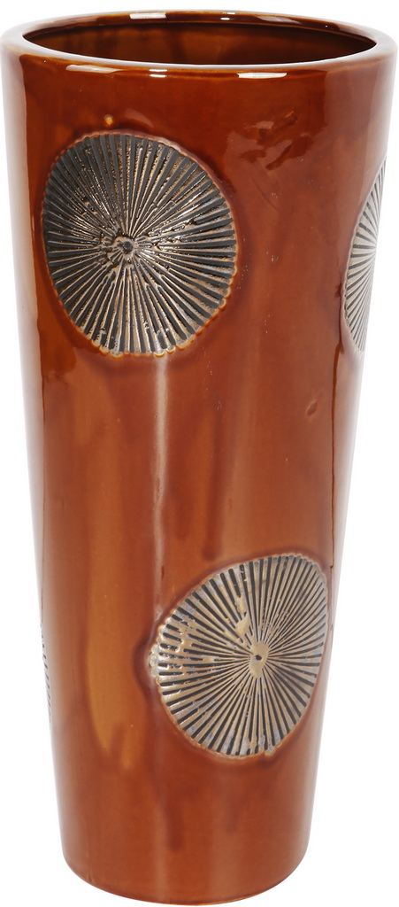 {} ARTEVALUCE Ваза Ria Цвет: Коричневый (20х20х40 см) ваза прямая цвет красный 51 см 2176628