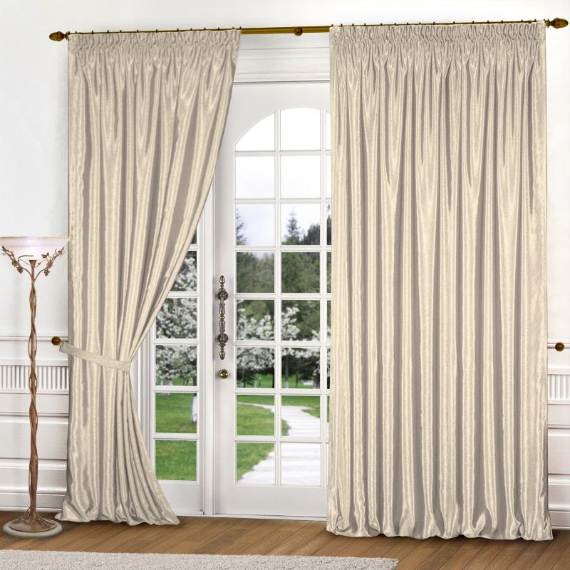 Шторы Elegante Классические шторы Шелковый Блеск Цвет: Молочный шторы tac классические шторы winx цвет персиковый 200x265 см
