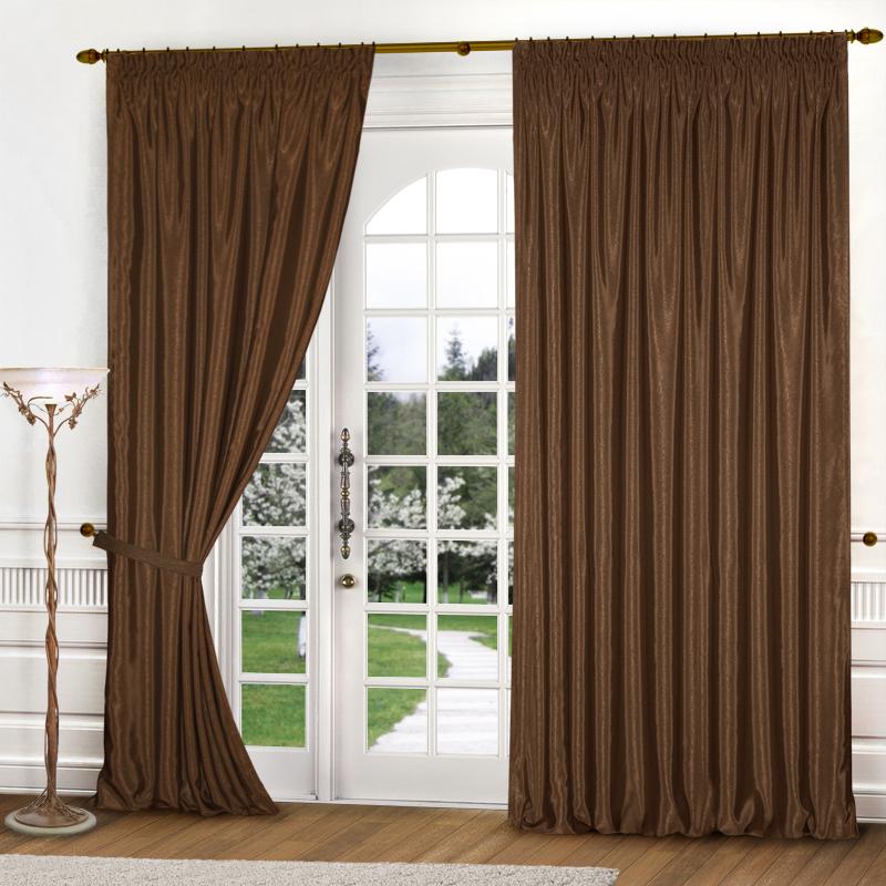 Шторы Elegante Классические шторы Шелковый Блеск Цвет: Коричневый шторы elegante классические шторы туман цвет персиковый