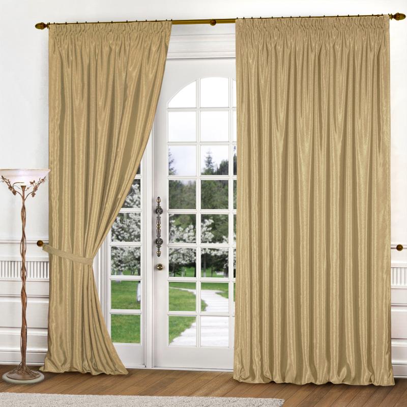 Шторы Elegante Классические шторы Шелковый Блеск Цвет: Золотистый шторы primavera классические шторы maev цвет персиковый