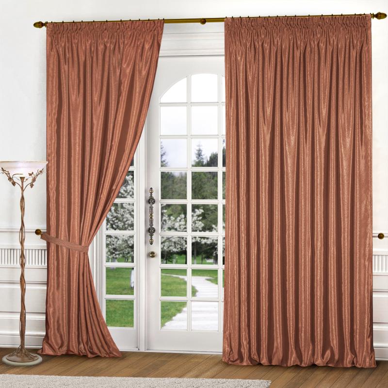 Шторы Elegante Классические шторы Шелковый Блеск Цвет: Терракотовый шторы elegante классические шторы туман цвет персиковый