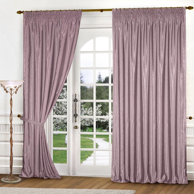 Шторы Elegante Классические шторы Шелковый Блеск Цвет: Сиреневый шторы tac классические шторы winx цвет персиковый 200x265 см