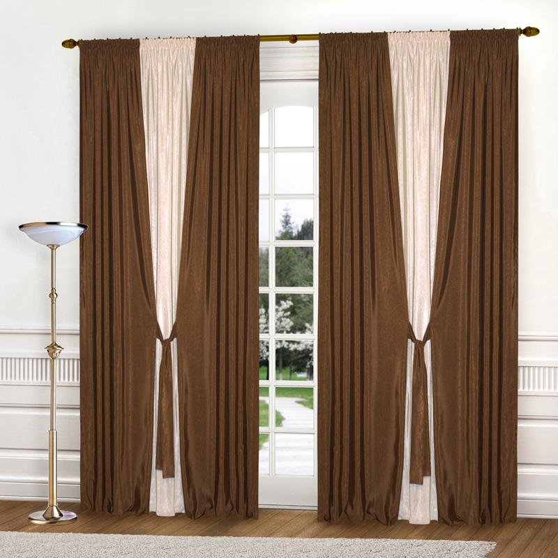 Шторы Elegante Классические шторы Тронный Зал Цвет: Коричневый, Светло-Бежевый шторы elegante классические шторы туман цвет персиковый