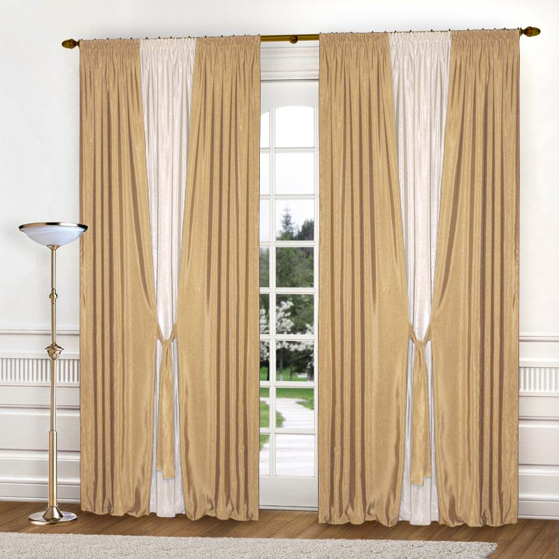 Шторы Elegante Классические шторы Тронный Зал Цвет: Золотистый, Молочный шторы elegante классические шторы туман цвет персиковый