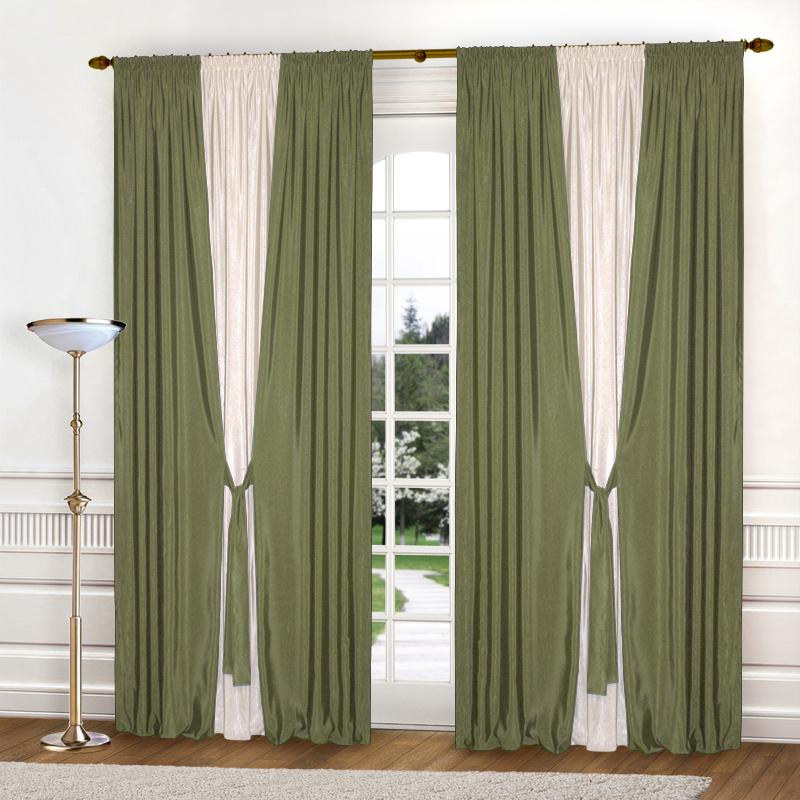 Шторы Elegante Классические шторы Тронный Зал Цвет: Оливковый, Молочный шторы elegante классические шторы туман цвет персиковый