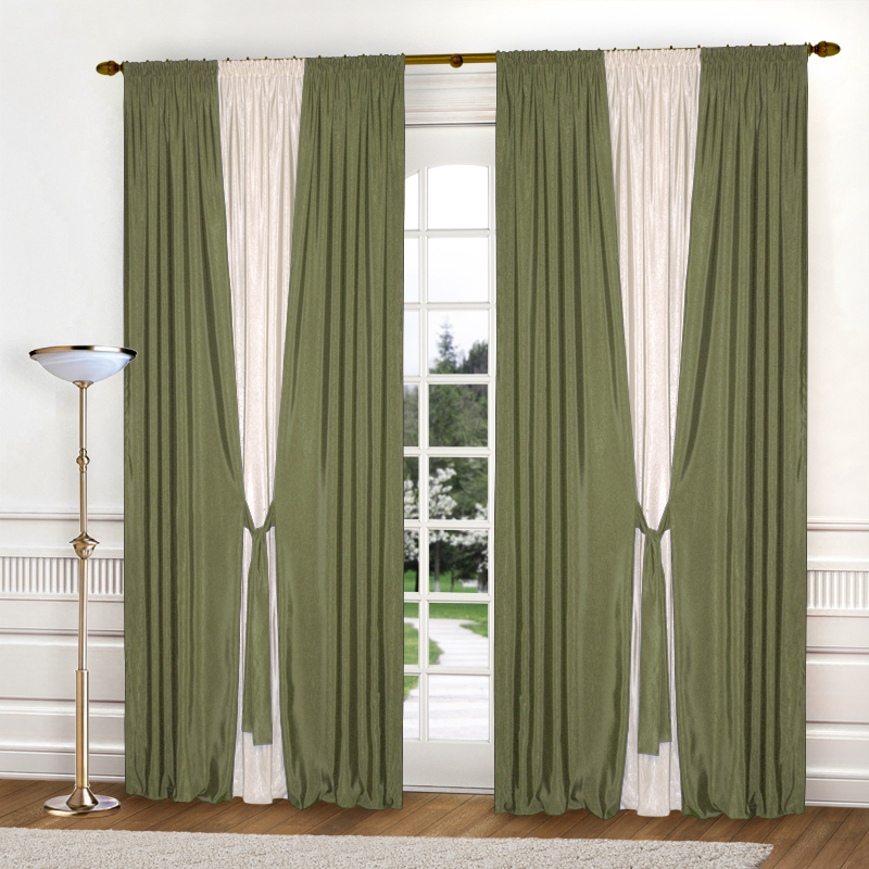 Шторы Elegante Классические шторы Тронный Зал Цвет: Оливковый, Молочный шторы tac классические шторы winx цвет персиковый 200x265 см