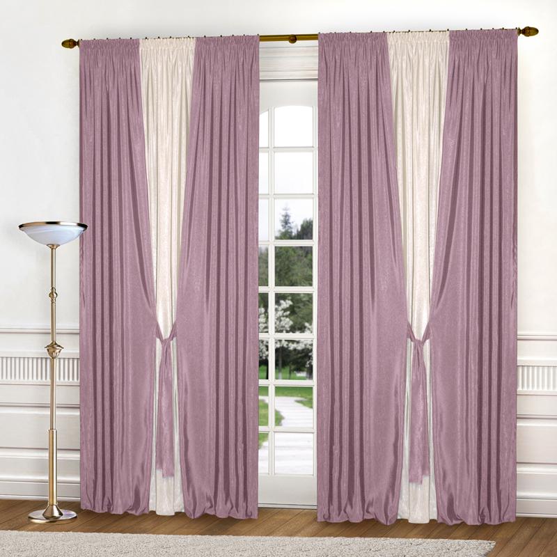 Шторы Elegante Классические шторы Тронный Зал Цвет: Сиреневый, Молочный шторы elegante классические шторы туман цвет персиковый