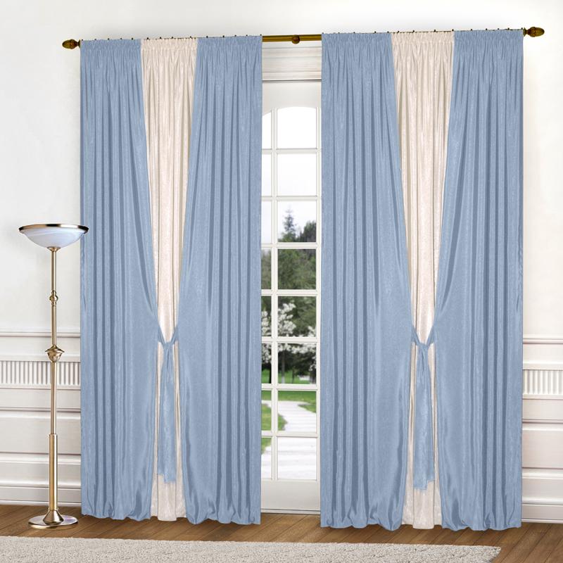 Шторы Elegante Классические шторы Тронный Зал Цвет: Голубой, Молочный шторы elegante классические шторы туман цвет персиковый