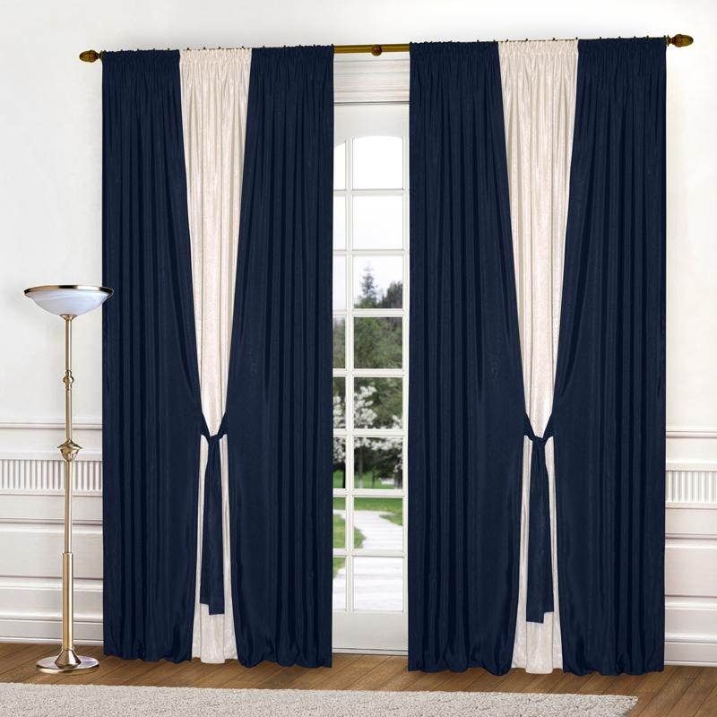 Шторы Elegante Классические шторы Тронный Зал Цвет: Синий, Молочный шторы tac классические шторы winx цвет персиковый 200x265 см