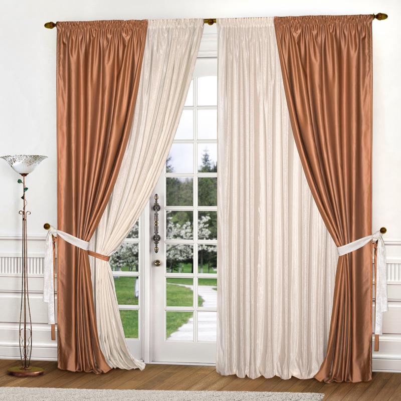 Шторы Elegante Классические шторы Версаль Цвет: Карамельно-Молочный шторы tac классические шторы winx цвет персиковый 200x265 см