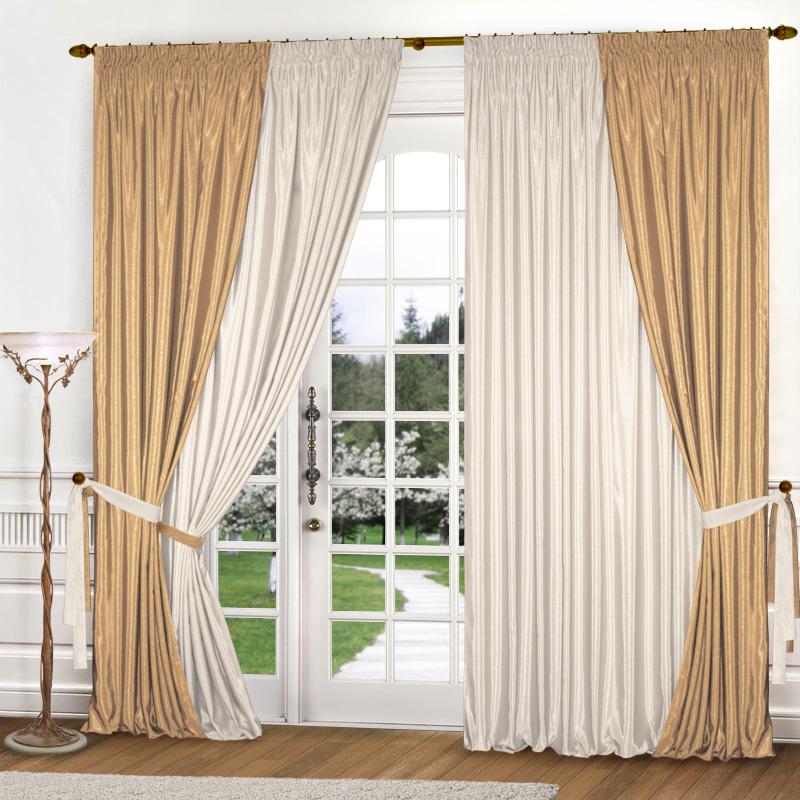 Шторы Elegante Классические шторы Миллениум Цвет: Золотистый, Молочный шторы tac классические шторы winx цвет персиковый 200x265 см