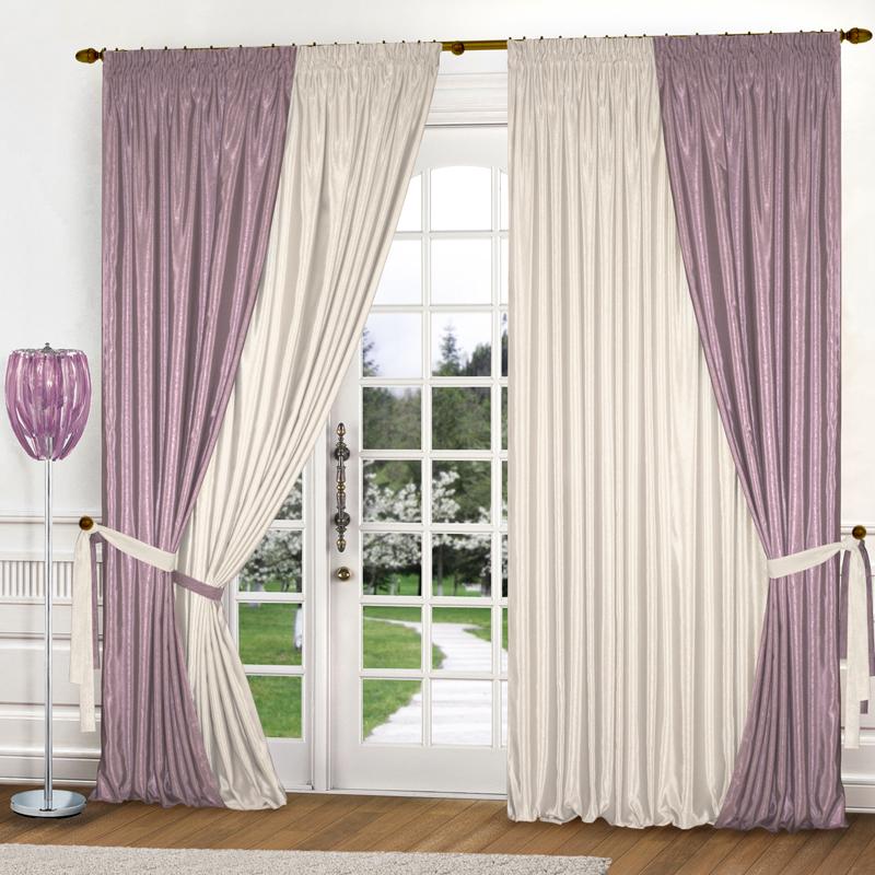 Шторы Elegante Классические шторы Миллениум Цвет: Сиреневый, Молочный шторы tac классические шторы winx цвет персиковый 200x265 см