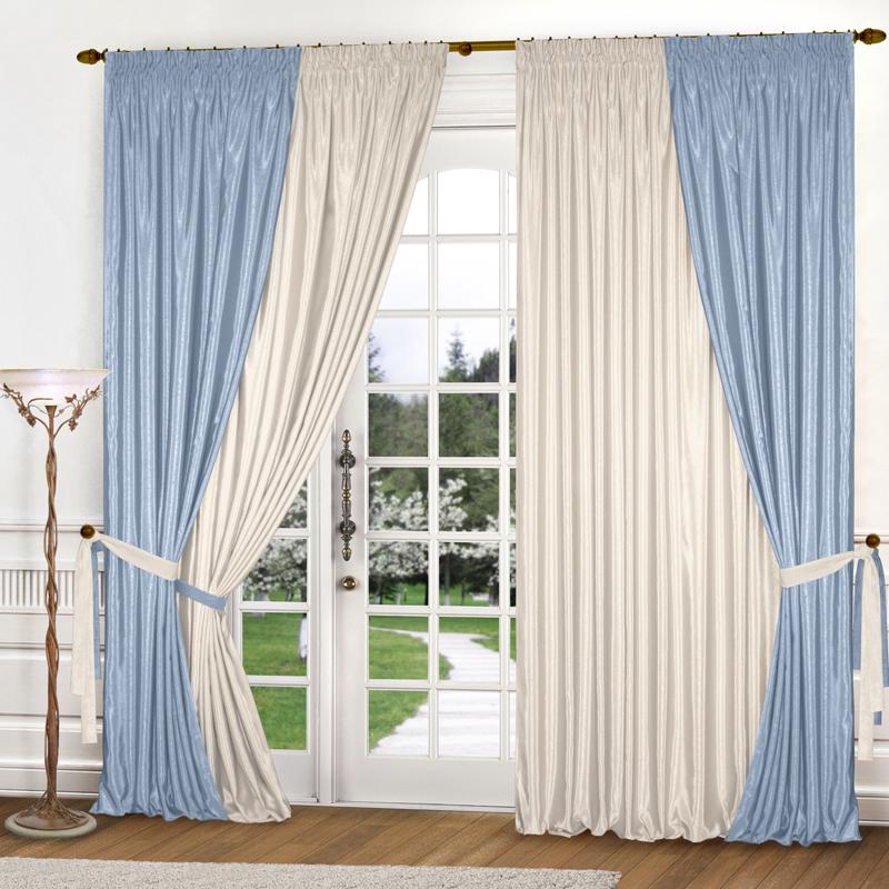 Шторы Elegante Классические шторы Миллениум Цвет: Голубой, Молочный шторы tac классические шторы winx цвет персиковый 200x265 см