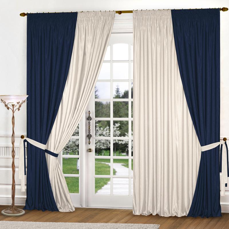 Шторы Elegante Классические шторы Миллениум Цвет: Синий, Молочный шторы tac классические шторы winx цвет персиковый 200x265 см