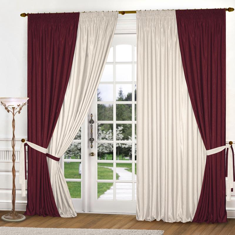 Шторы Elegante Классические шторы Миллениум Цвет: Бордовый, Молочный шторы tac классические шторы winx цвет персиковый 200x265 см