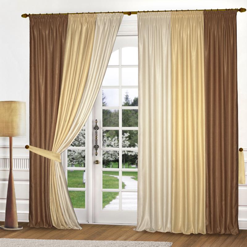 Шторы Elegante Классические шторы Радуга Цвет: Карамель шторы tac классические шторы winx цвет персиковый 200x265 см