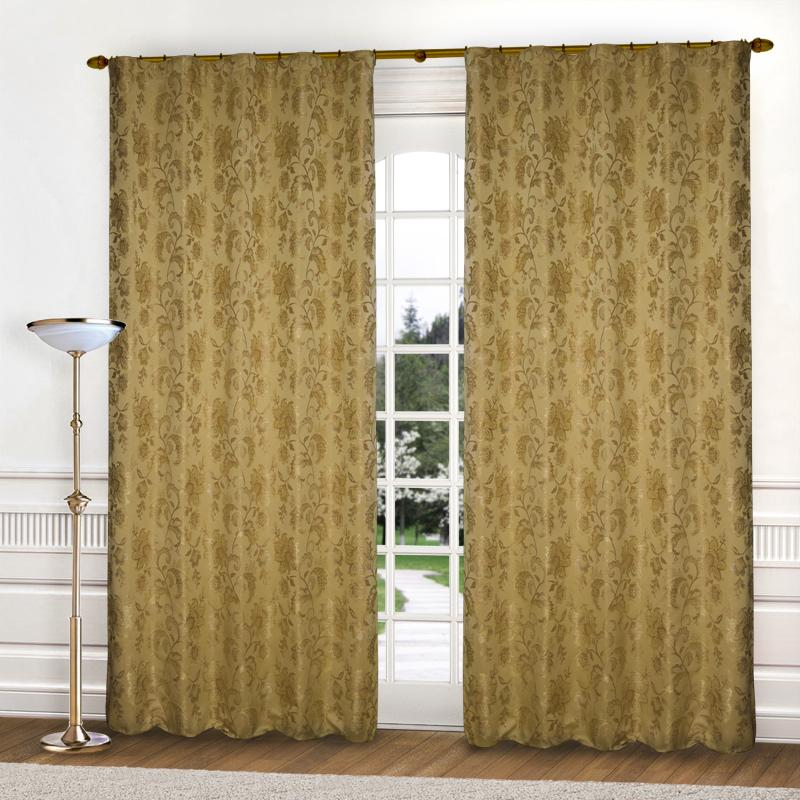 Шторы Elegante Классические шторы Гербарий Цвет: Золотистый шторы tac классические шторы winx цвет персиковый 200x265 см