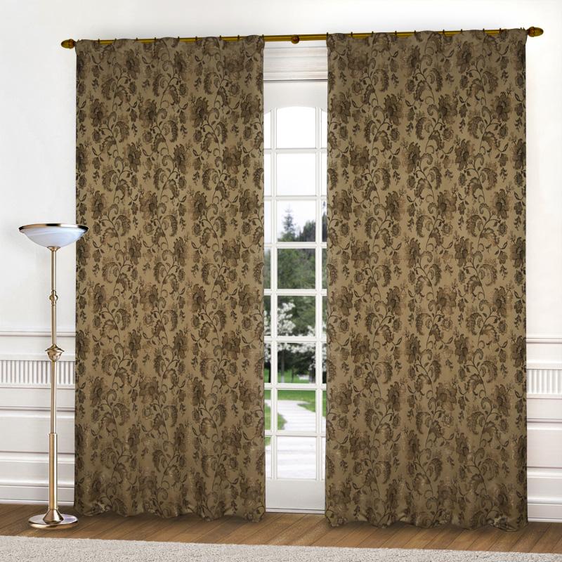 Шторы Elegante Классические шторы Гербарий Цвет: Коричневый шторы kauffort классические шторы barolo