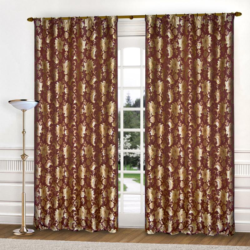 Шторы Elegante Классические шторы Гербарий Цвет: Бордовый шторы primavera классические шторы maev цвет персиковый