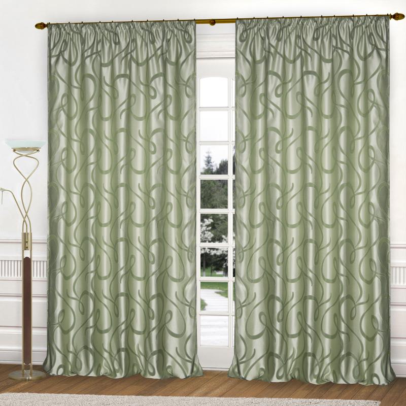 Шторы Elegante Классические шторы Линия Судьбы Цвет: Оливковый (светлый фон)
