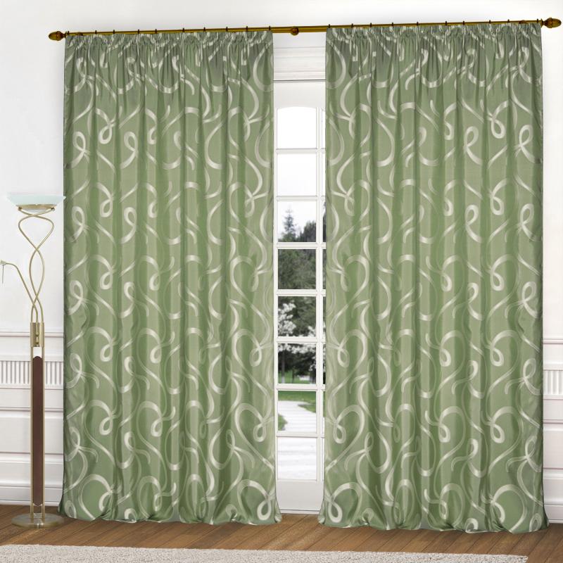 Шторы Elegante Классические шторы Линия Судьбы Цвет: Оливковый шторы tac классические шторы winx цвет персиковый 200x265 см