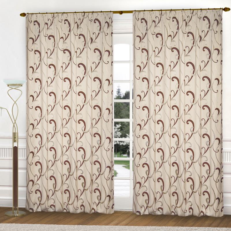 Шторы Elegante Классические шторы Zachariah Цвет: Кремовый, Коричневый шторы elegante классические шторы туман цвет персиковый
