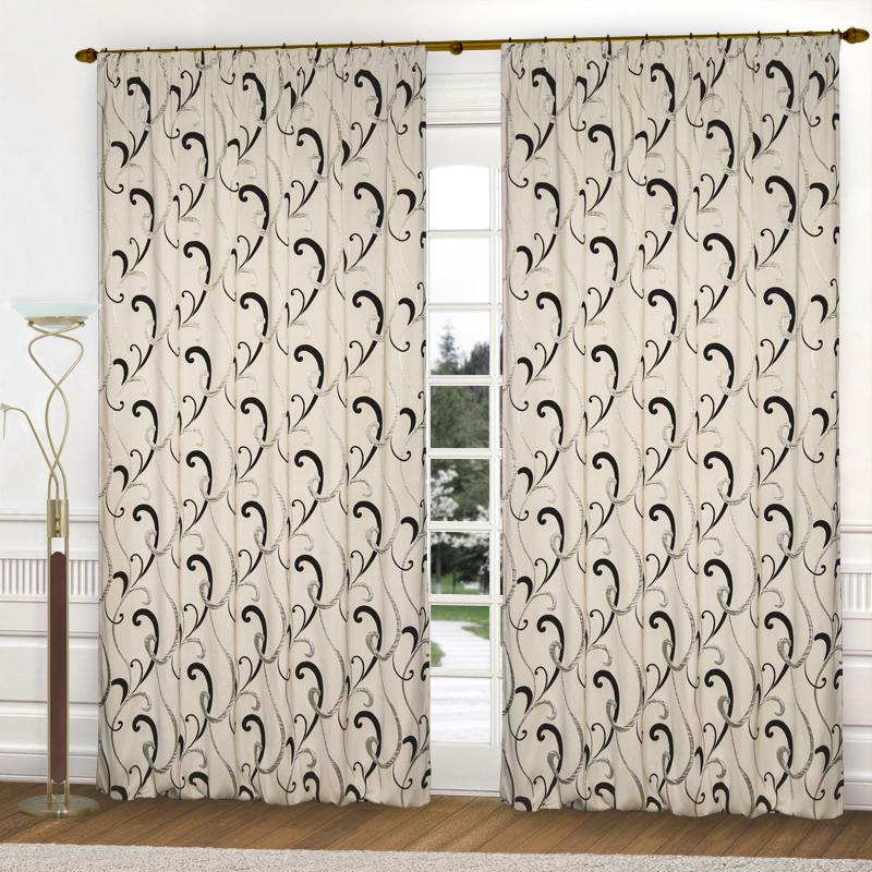 Шторы Elegante Классические шторы Zachariah Цвет: Кремовый, Черный шторы elegante классические шторы туман цвет персиковый