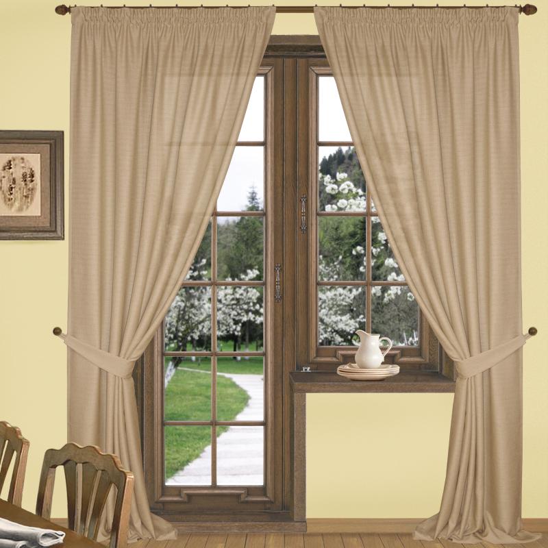 Шторы Elegante Классические шторы Эко-Стиль Цвет: Бежевый шторы tac классические шторы winx цвет персиковый 200x265 см