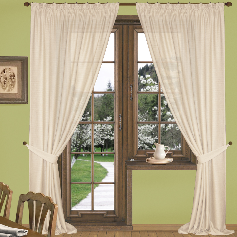 Шторы Elegante Классические шторы Эко-Стиль Цвет: Кремовый шторы primavera классические шторы maev цвет персиковый