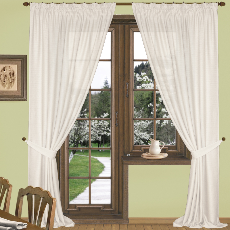 Шторы Elegante Классические шторы Эко-Стиль Цвет: Молочный