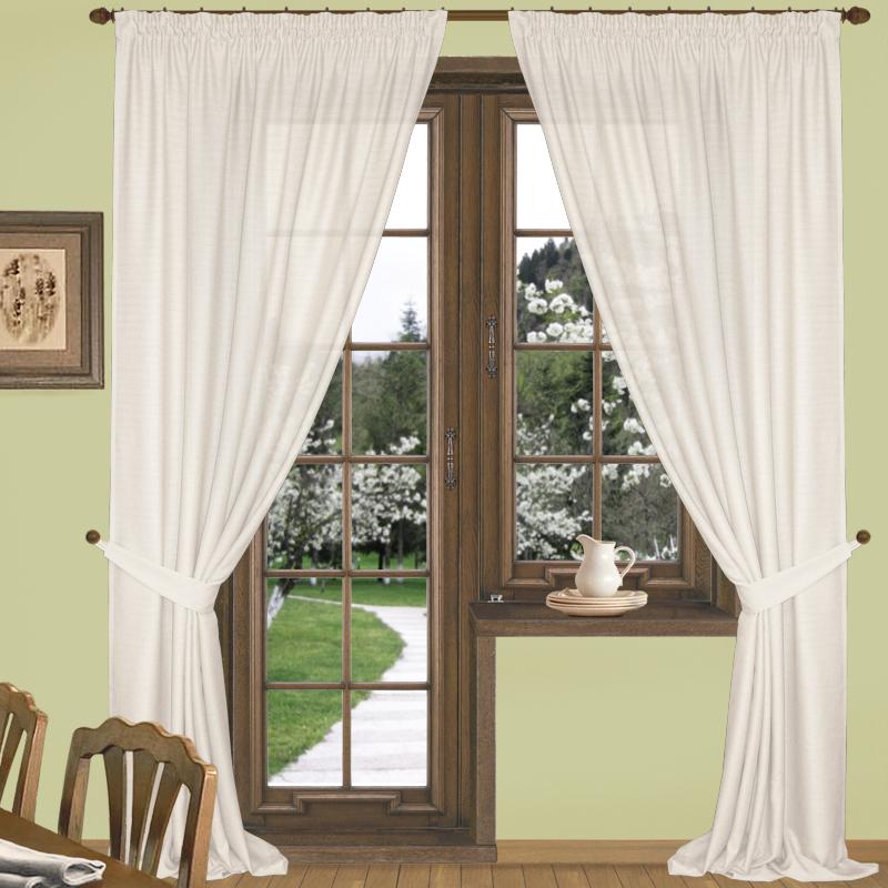 Шторы Elegante Классические шторы Эко-Стиль Цвет: Молочный шторы primavera классические шторы maev цвет персиковый