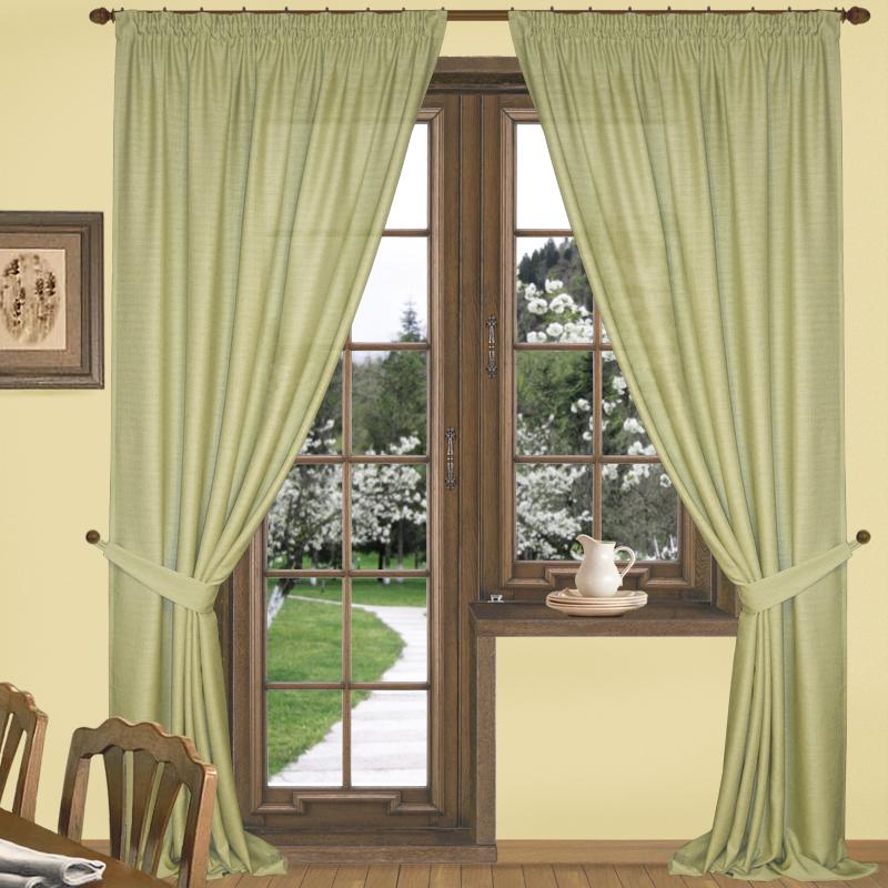 Шторы Elegante Классические шторы Эко-Стиль Цвет: Оливковый шторы primavera классические шторы maev цвет персиковый