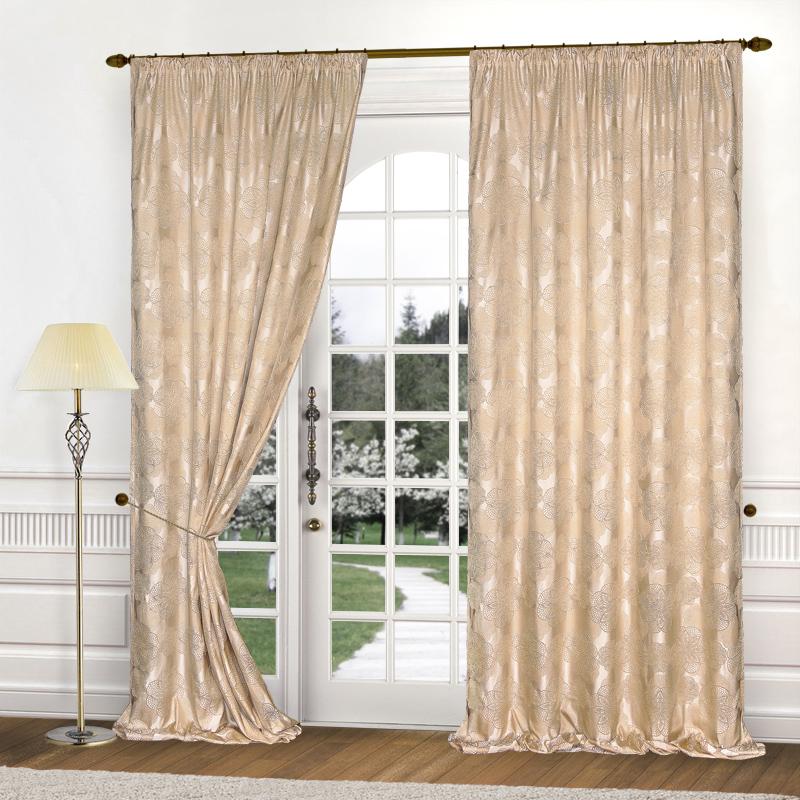 Шторы Elegante Классические шторы Cario Цвет: Бежевый шторы tac классические шторы winx цвет персиковый 200x265 см