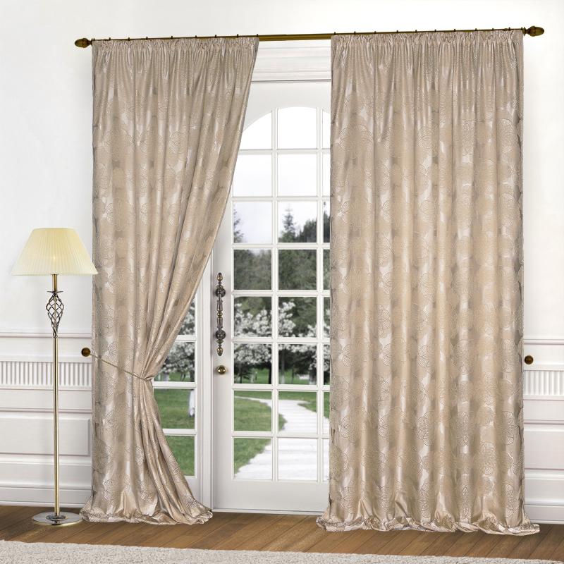 Шторы Elegante Классические шторы Cario Цвет: Серо-Бежевый шторы tac классические шторы winx цвет персиковый 200x265 см