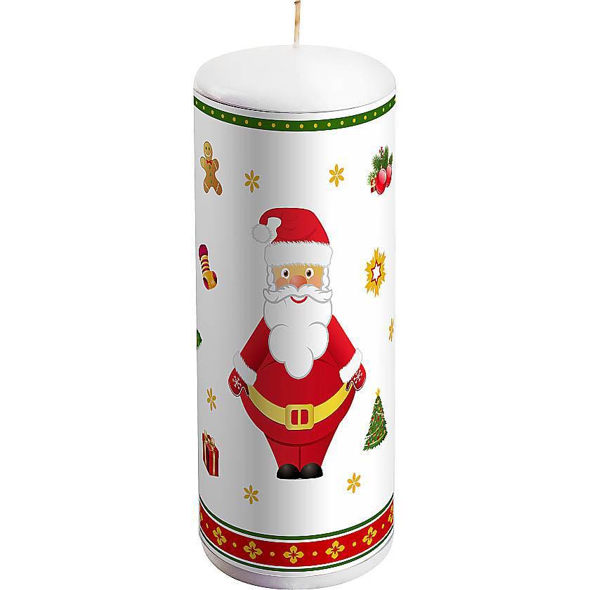 {} Свеча Дед Мороз Цвет: Белый свеча дед мороз цвет белый
