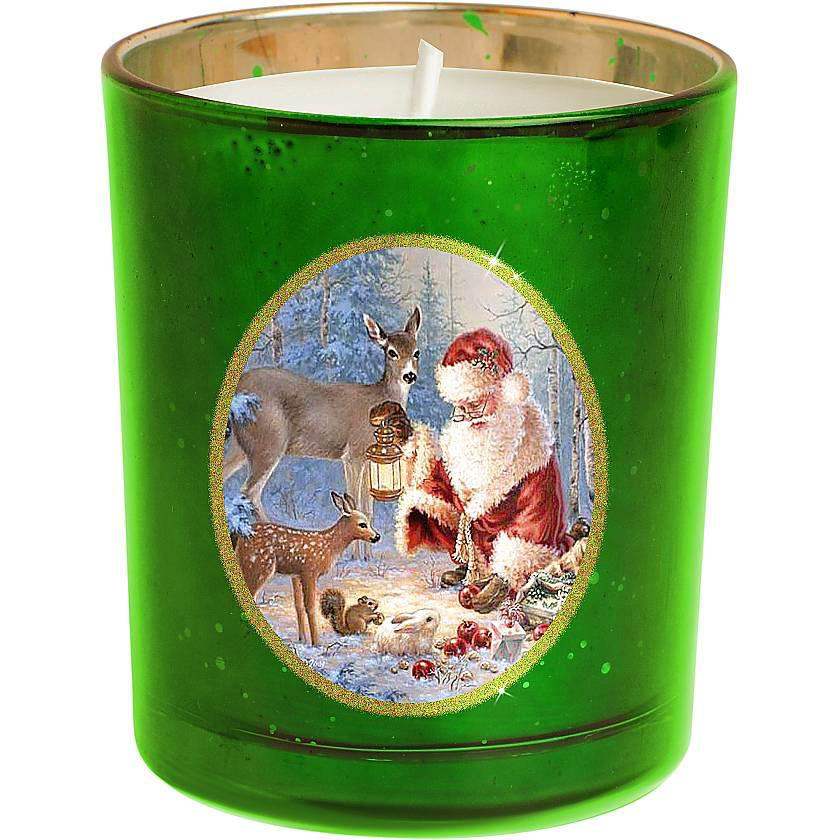 {} Набор свечей Зимняя Сказка Цвет: Зеленый набор новогодних свечей mister christmas зимняя сказка высота 7 см kg set 3