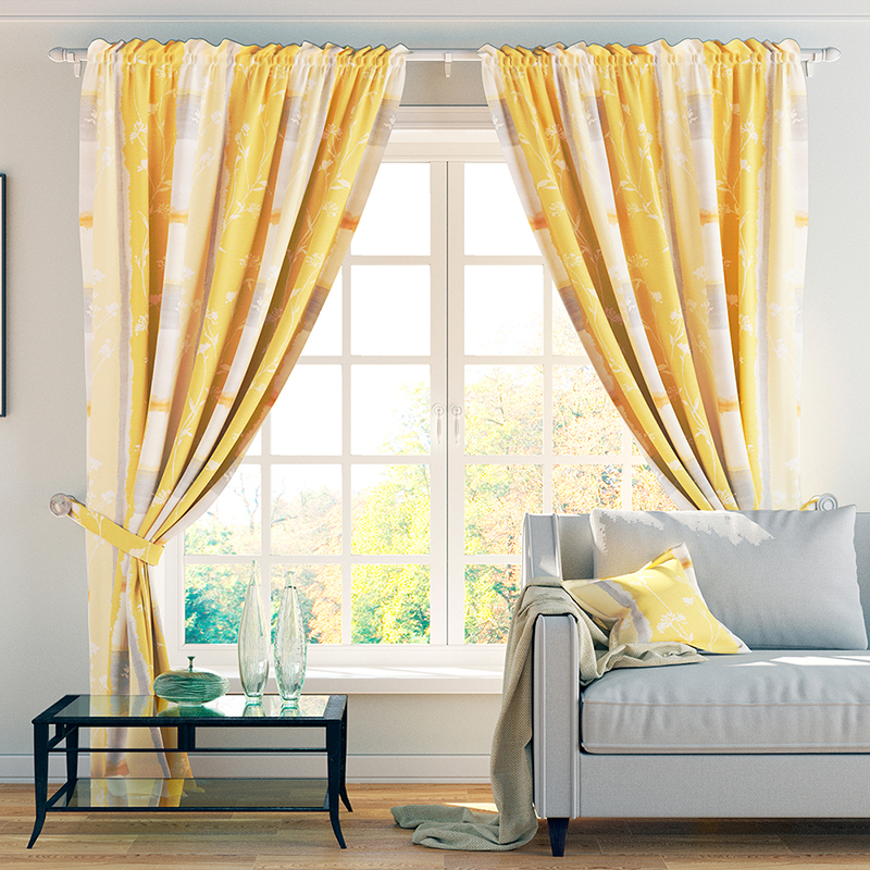 Шторы PASIONARIA Классические шторы Холли Цвет: Желтый шторы tac классические шторы winx цвет персиковый 200x265 см