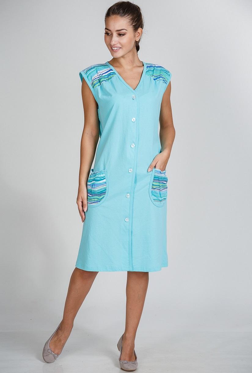 Домашние халаты Pastilla Домашний халат Летний Цвет: Ментоловый (xL)