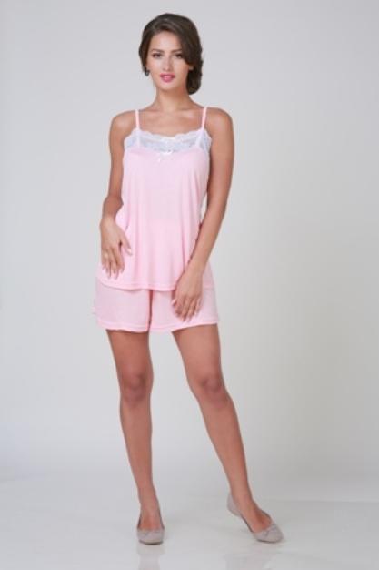 Пижамы Pastilla Пижама Ласса Цвет: Персиковый (xL-xxL) пижамы la pastel пижама кофта с запахом длинный рукав штаны длинные белый голубой размер xl