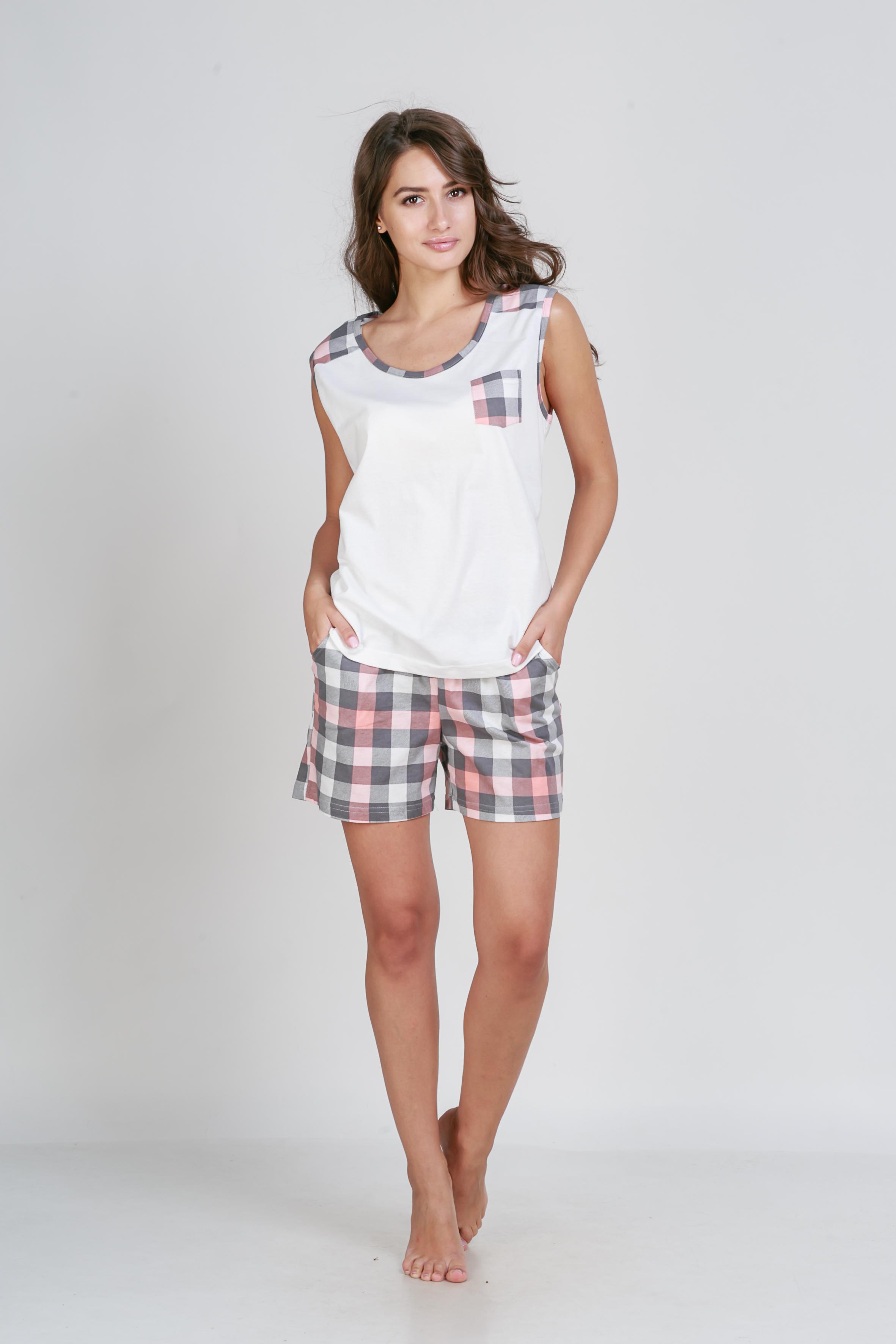 Пижамы Pastilla Пижама Сорренто Цвет: Коралловый (M) пижама жен mia cara майка шорты botanical aw15 ubl lst 264 р 42 44 1119503