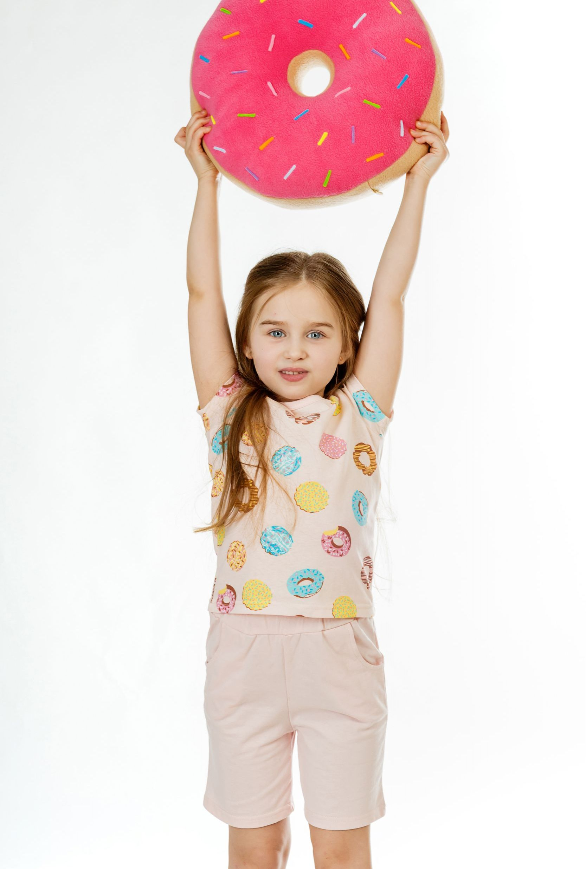 Детские пижамы Pastilla Детская пижама Лакомка 2 Цвет: Пудровый (7 лет) детские пижамы pastilla детская пижама лакомка 2 цвет пудровый 7 лет