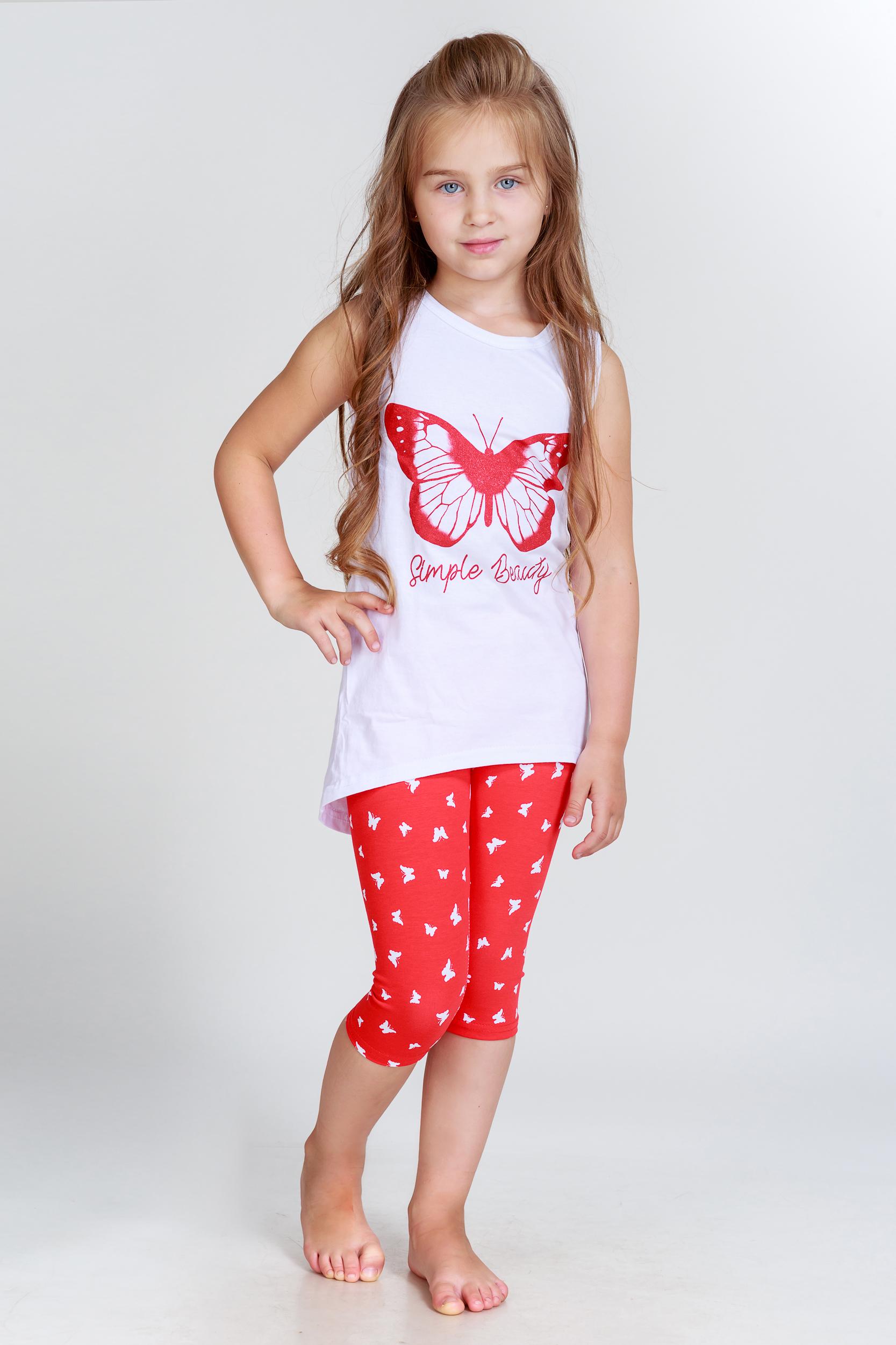 цены Детская домашняя одежда Pastilla Детский костюм Бабочки (7-8 лет)