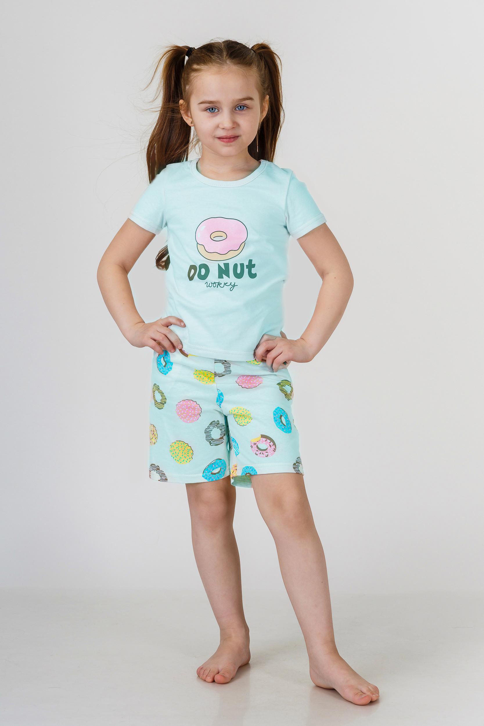 Детские пижамы Pastilla Детская пижама Лакомка Цвет: Ментол (7 лет) пижама жен mia cara майка шорты botanical aw15 ubl lst 264 р 42 44 1119503