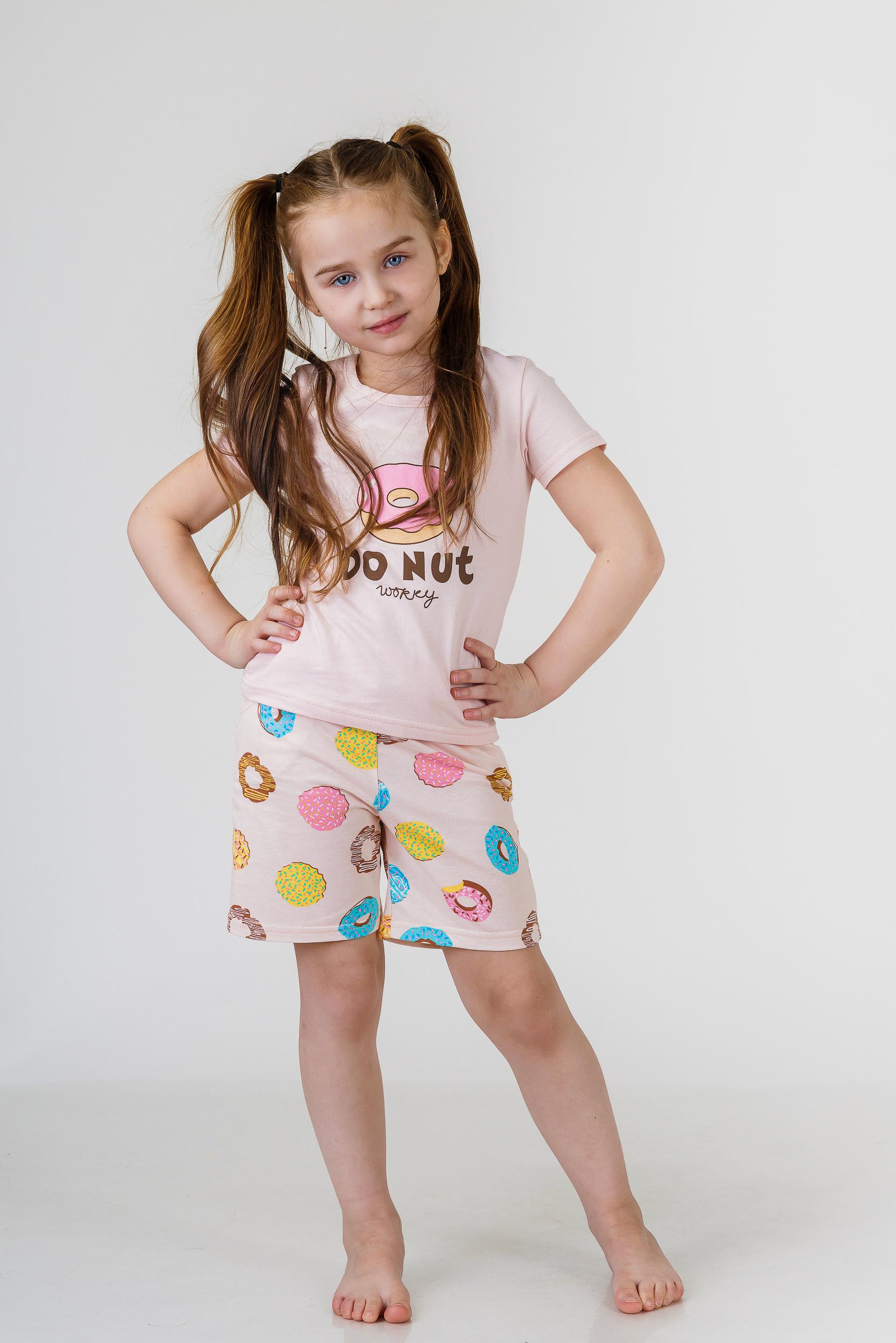 Детские пижамы Pastilla Детская пижама Лакомка Цвет: Пудровый (6 лет) пижама жен mia cara майка шорты botanical aw15 ubl lst 264 р 42 44 1119503