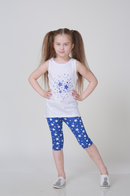 Детская домашняя одежда Pastilla Детский костюм Лето Цвет: Василек (7-8 лет) детский костюм озорного клоуна 34
