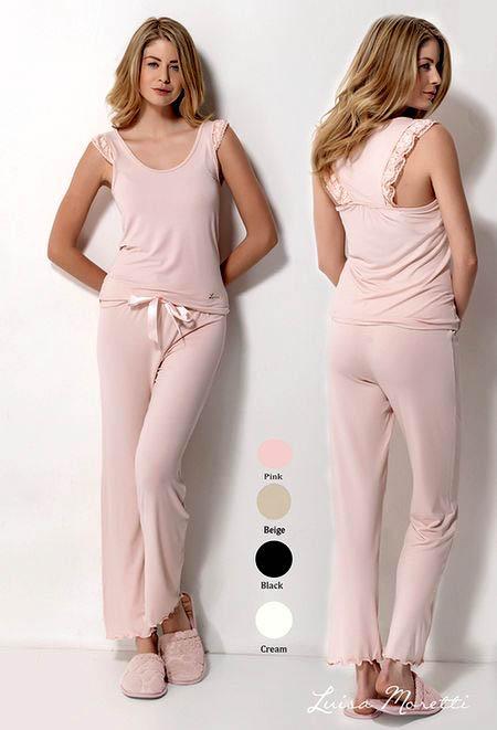 Пижамы Luisa Moretti Пижама Jeni Цвет: Розовый (S)