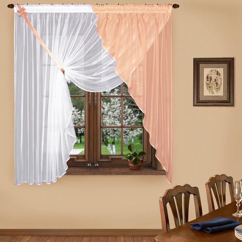 Шторы Elegante Шторы с ламбрекеном Летняя Свежесть Цвет: Персиковый шторы tac классические шторы winx цвет персиковый 200x265 см
